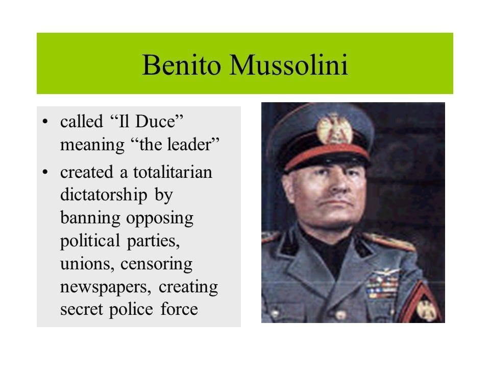 Benito Mussolini's Death - Rise And Fall Of Il Duce