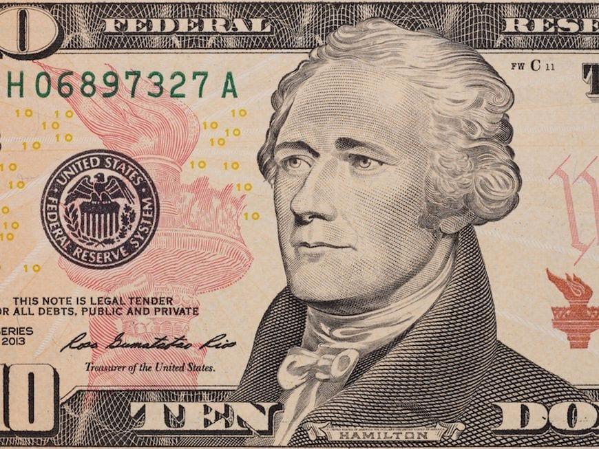 Do you know why Alexander Hamilton is on 10-dollar bill