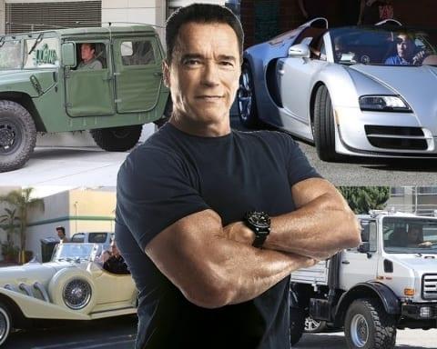 Arnold Schwarzenegger S Car Collection Bonus Terminator Bike Scenes