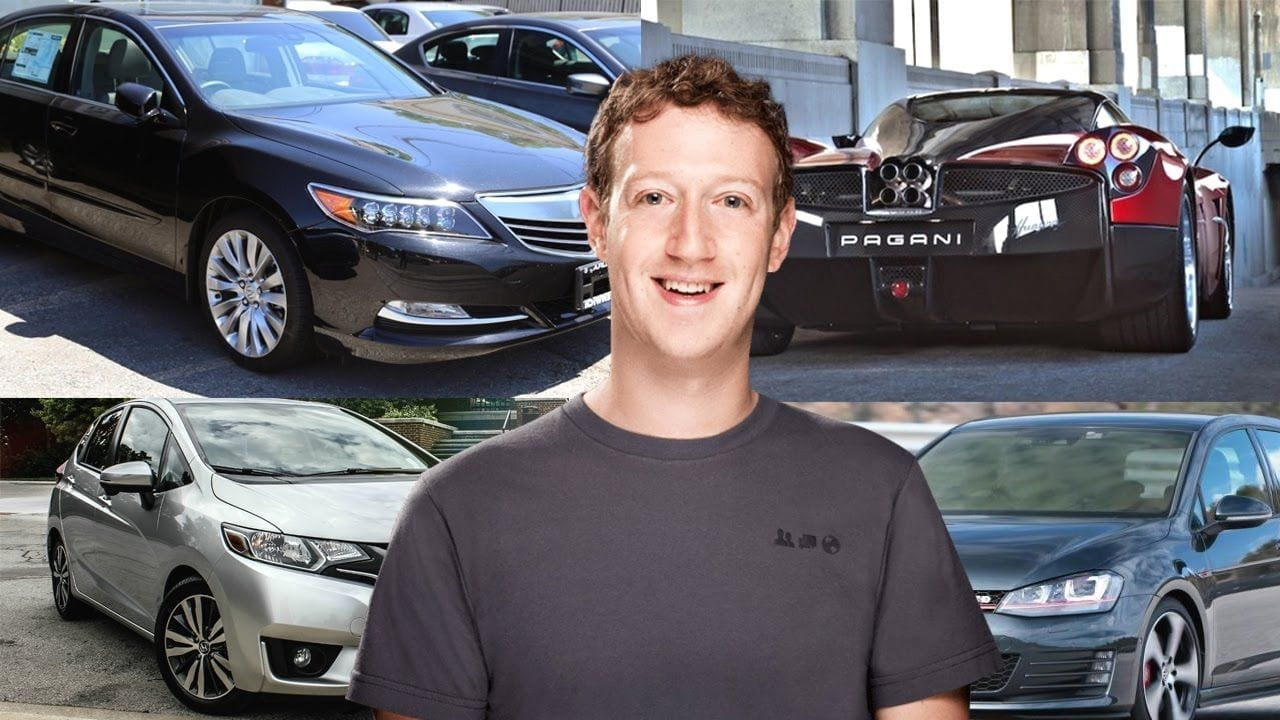 Mark Zuckerberg S Car Collection Pagani Acura Honda