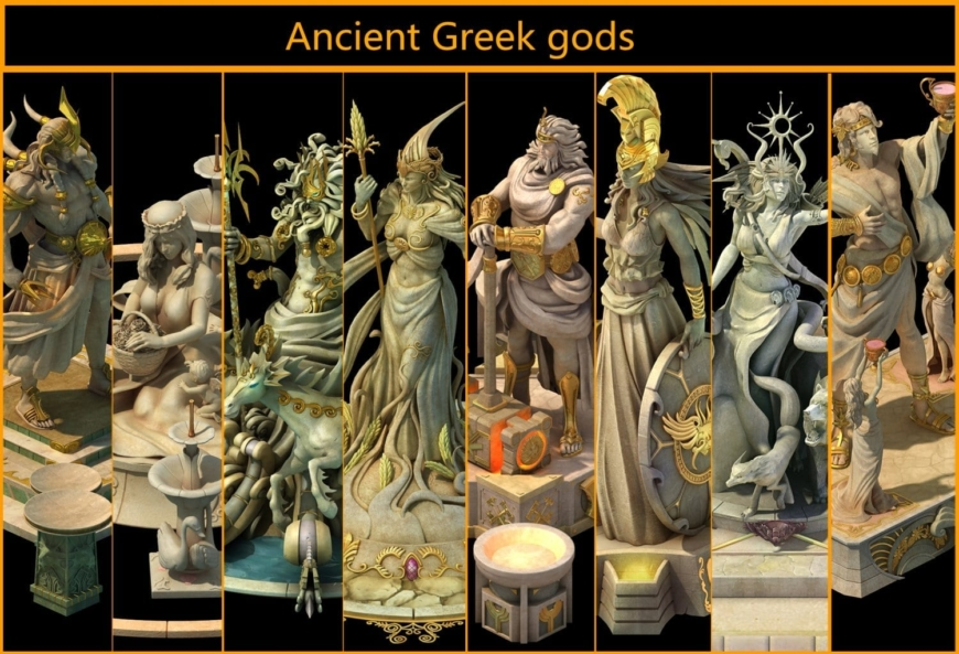 greek and roman gods what is the difference foreign policy