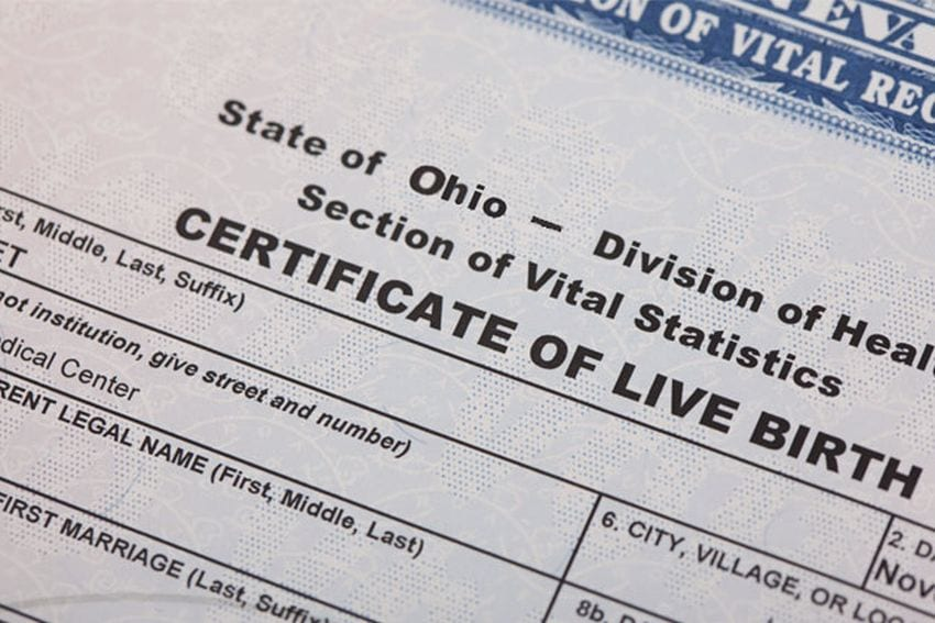 How can i get a birth certificate from ohio