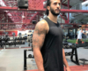 Colin Kaepernick in the gym