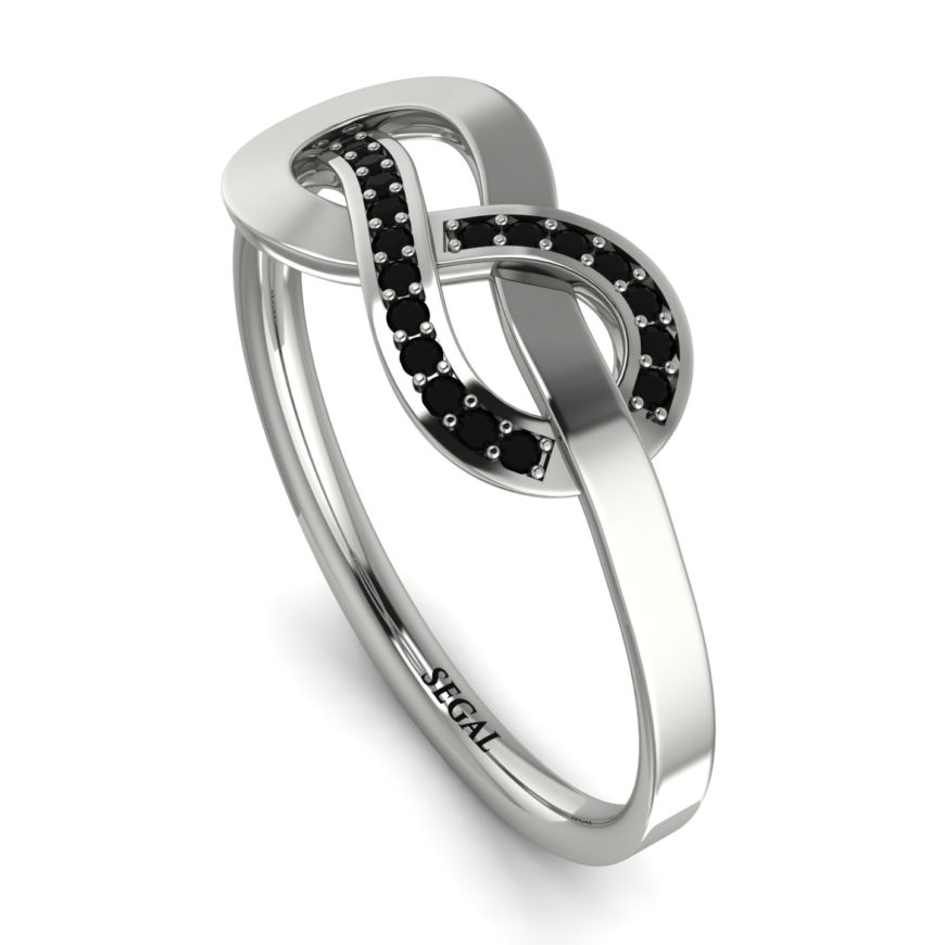 Infinity Yin Yang Black Diamond Ring