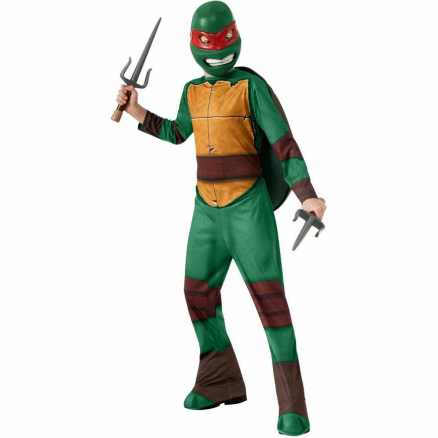 Teenage Mutant Ninja Turtles Deluxe Raphael Costume with Muscles New by Rubies
