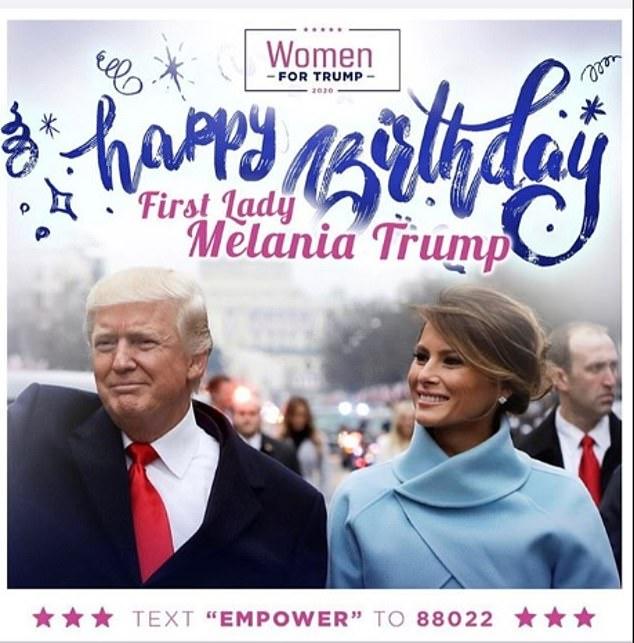 Donald Trump Wishes His Wife Melania A Happy Birthday